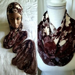 NWOT women's embellished head covering/scarf